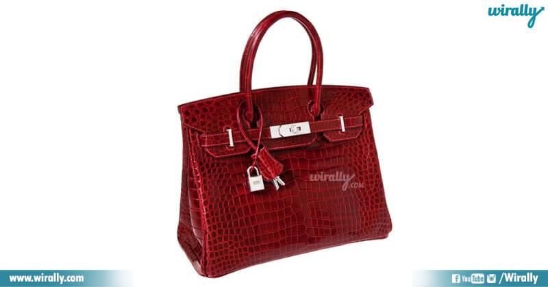 Shiny Rouge H Porosus Crocodile Birkin Bag