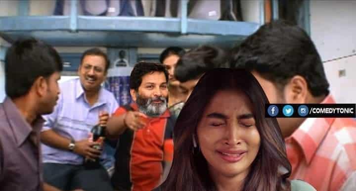1.Trivikram-Pooja Hegde Combination memes