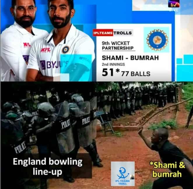 10.Shami-Bumrah innings memes
