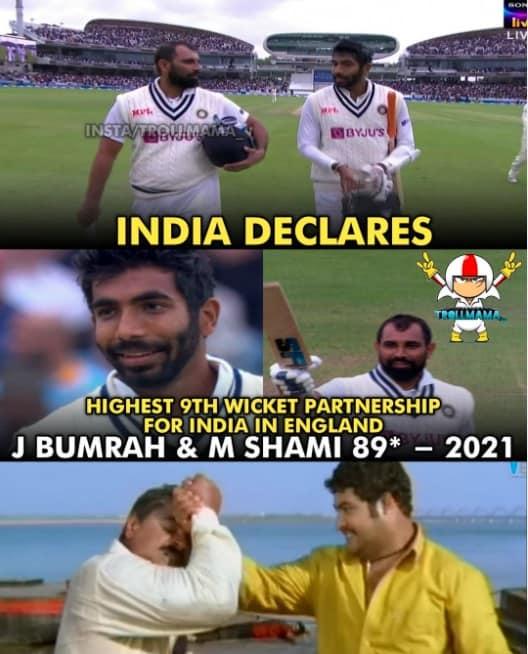 3.Shami-Bumrah innings memes