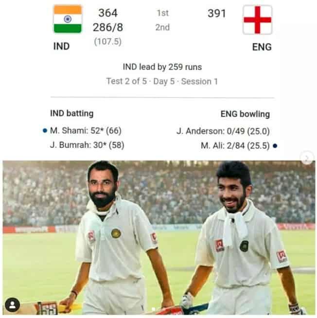 4.Shami-Bumrah innings memes
