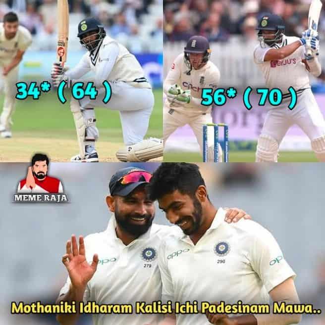 8.Shami-Bumrah innings memes