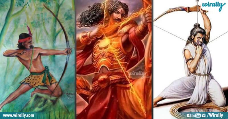 Karna, Arjuna, Yekalavya