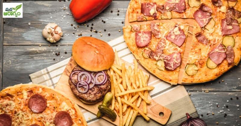 pizza and burger stuff junk