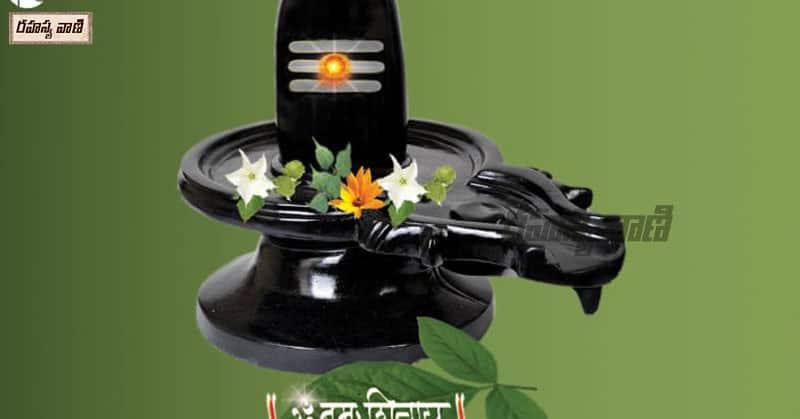 shiva linga with bilva