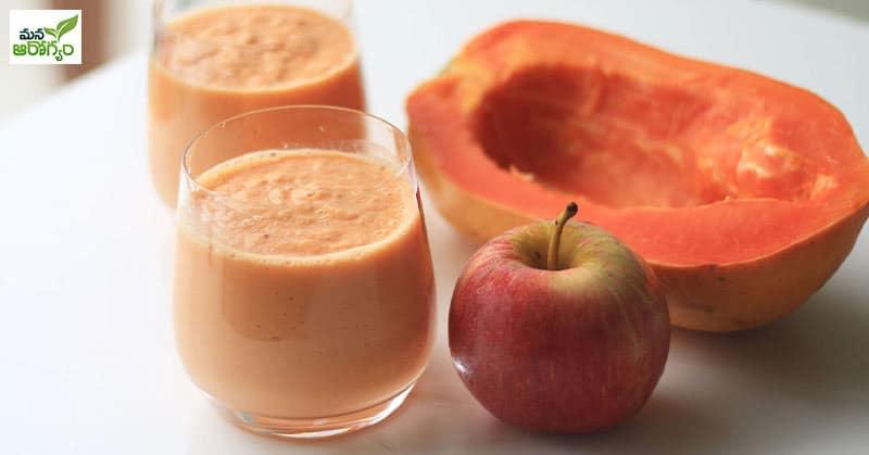 papaya and apple
