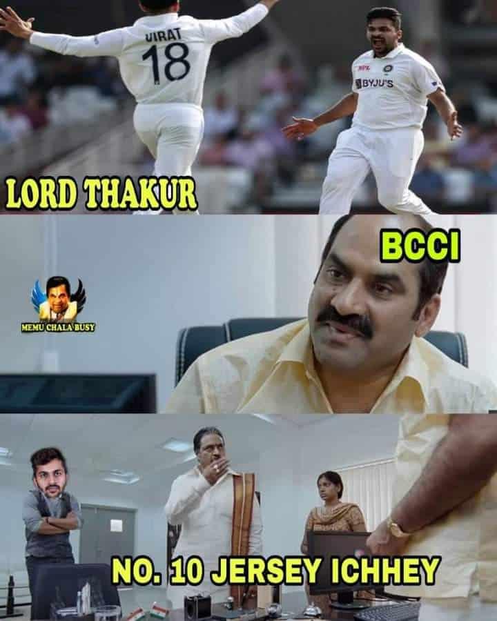 6.Shardul Thakur memes