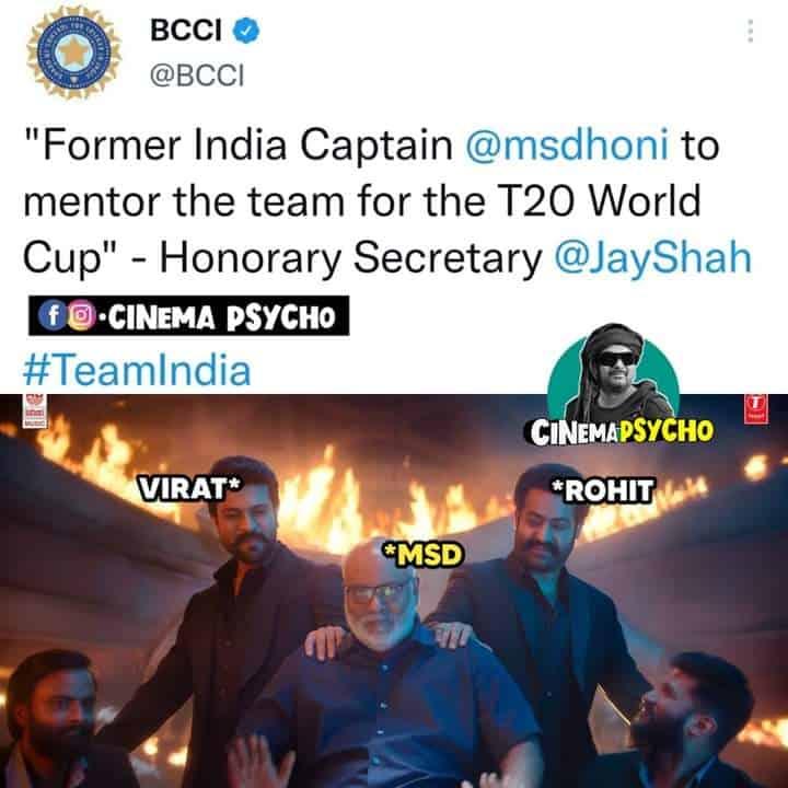 7.T20 WC Squad memes