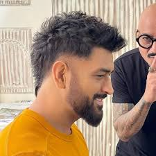 Dhoni's latest Hair Style