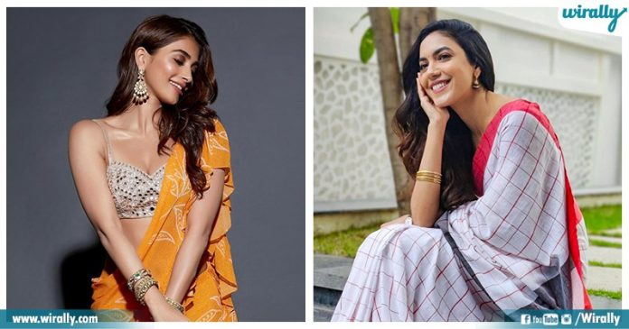 Pics Of Heroines In Sarees